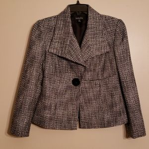 Great Black And White Fitted Jacket